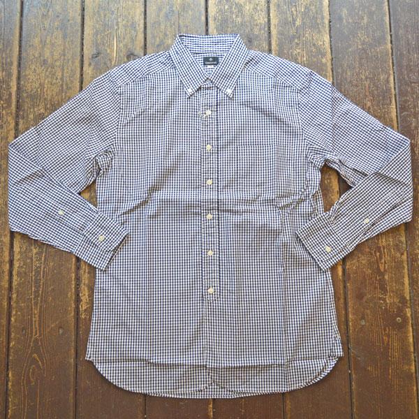 カンディデュム CANDIDUM オックスフォード  ギンガムチェック ボタンダウンシャツ NAVY