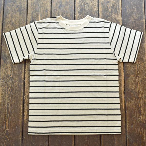コロンビアニット Columbia knit ボーダーストライプTシャツ EX.S/S Williamette Stripe Tee MADE IN USA NATURAL