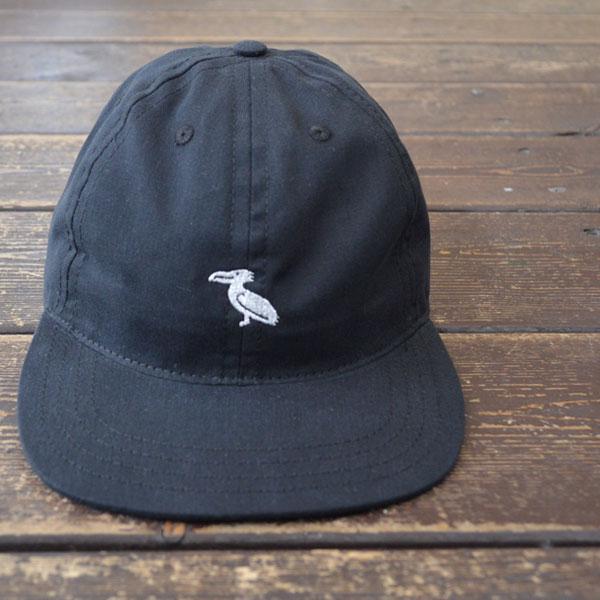 クーパーズタウン ボールキャップ Coopers Town Ball Cap 6P コットンロゴキャップ Brushed Cotton Small Logo Cap BIRD BLACK