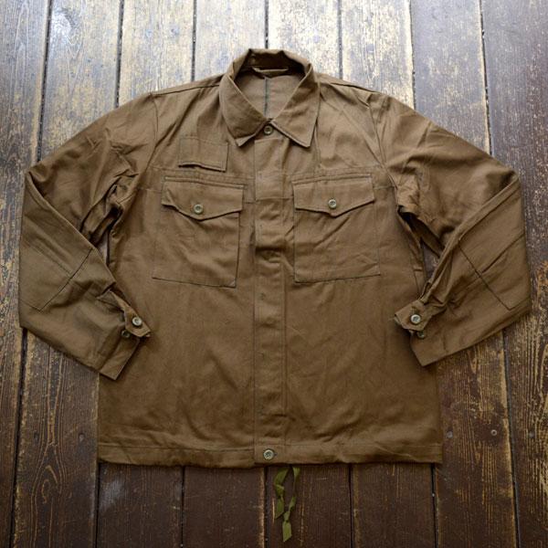 チェコ軍 ミリタリー ワークシャツ ジャケット Czech Military Work Shirt Jacket BROWN