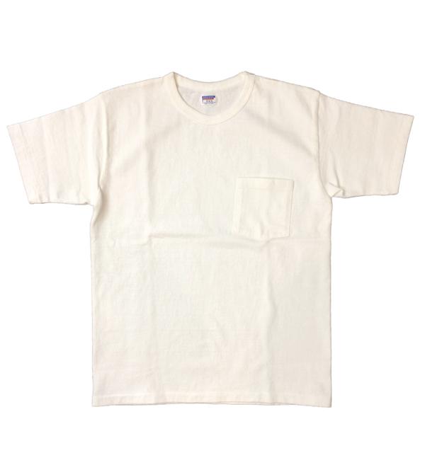 ダブルワークス 【DUBBLE WORKS】 8番手 度詰め丸胴天竺 ポケットTシャツ HEAVY WEIGHT POCKET TEE Lot.37002 WHITE