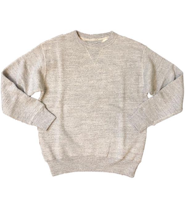 ダブルワークス 【DUBBLE WORKS】 吊り編み クルーネック スウェットシャツ TSURIAMI SWEAT SHIRT LOT.86001 杢グレー