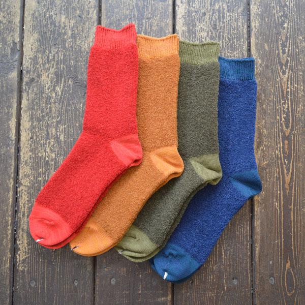 デカ decka アルパカ ブークレ ソックス Alpaca boucle socks