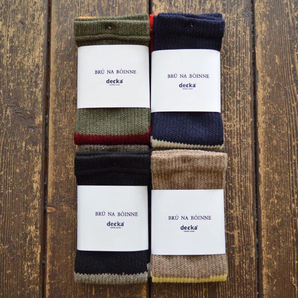 BRU NA BOINNE × decka quality socks ダブルウォーマー Double warmer
