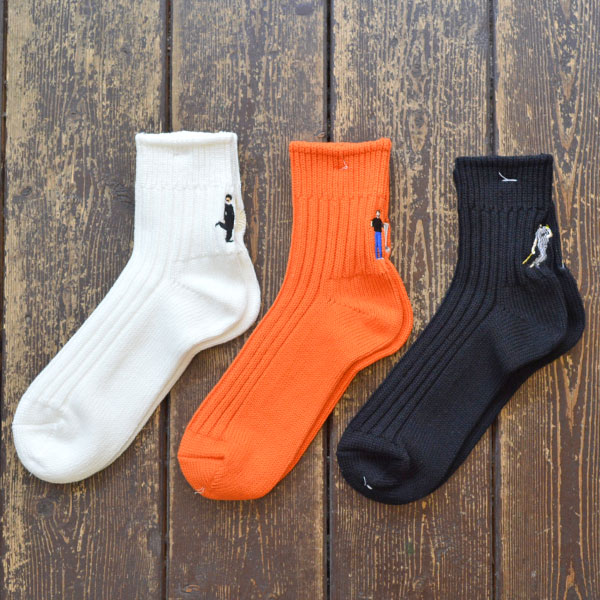 BRUNA BOINNE × decka quality socks ヘビーウェイト ショートソックス Heavyweight Socks Short Length socks embroidery DECO 359