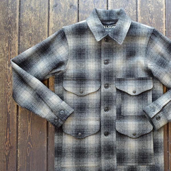 フィルソン FILSON マッキーノウールジャケット MACKINAW WOOL JACKET 11010043 GRAY/CHARCOAL OMBRE