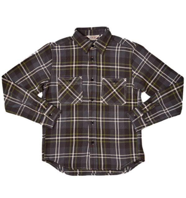 ファイブブラザー 【FIVE BROTHER】 ヘビーフランネル チェックシャツ HEAVY FLANNEL SHIRTS GRAY