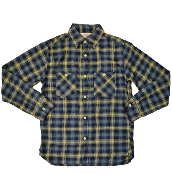 ファイブブラザー 【FIVE BROTHER】 ライトフランネルシャツ Light Flannel Shirt DARK BLUE