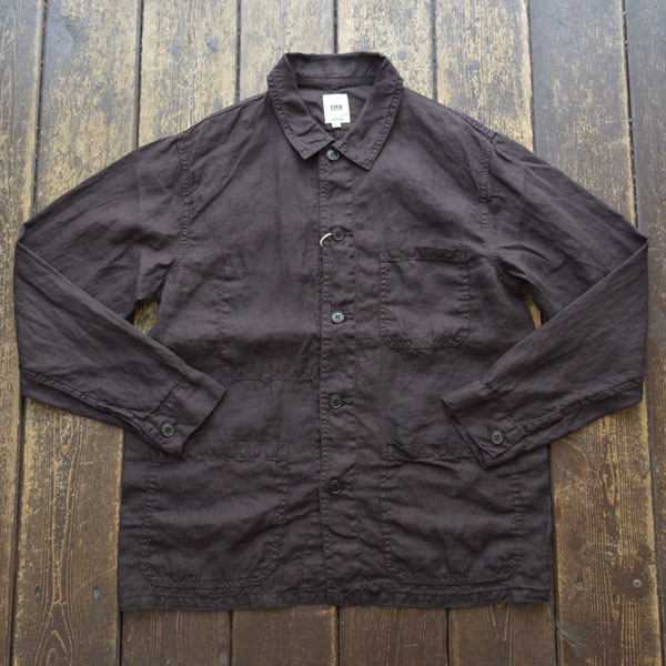 エフオービーファクトリー FOB FACTORY ヘンプ フレンチ シャツジャケット HEMP FRENCH SHIRT JK F2413 BLACK