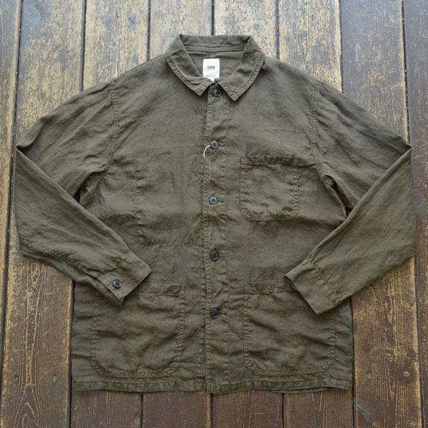 エフオービーファクトリー FOB FACTORY ヘンプ フレンチ シャツジャケット HEMP FRENCH SHIRT JK F2413 OLIVE