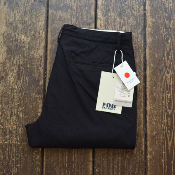 エフオービーファクトリー FOB FACTORY デパーチャー ストレッチイージーパンツ DEPARTURE PANTS F0455 BLACK