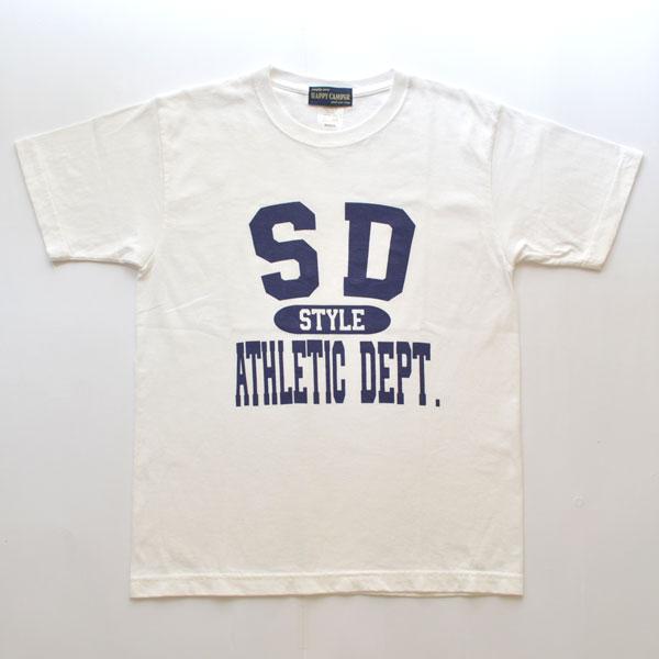 """ハッピーキャンパー HAPPY CAMPER 6.2オンス プリントTシャツ """"SDSTYLE"""" WHITE"""