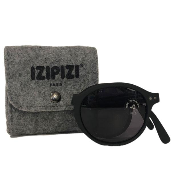 イジピジ 【IZIPIZI】 サングラス SUN クラウンパント型 折りたたみ #F BLACK