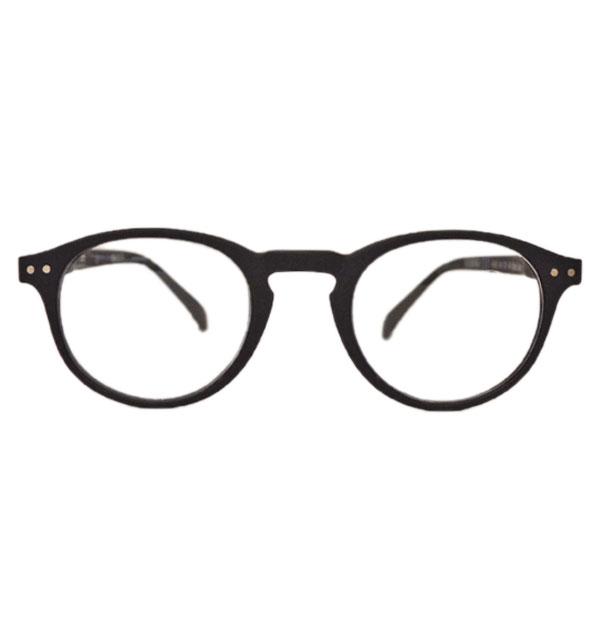 イジピジ IZIPIZI リーディンググラス 眼鏡 ±0 ボストン型 #A BLACK
