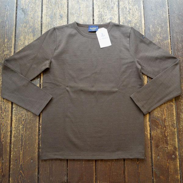 ルミノア Le minor 無地 バスクシャツ 810 SOLID MAROON