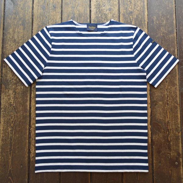 ルミノア Le minor 半袖ボーダー Tシャツ MARINE/BLANC