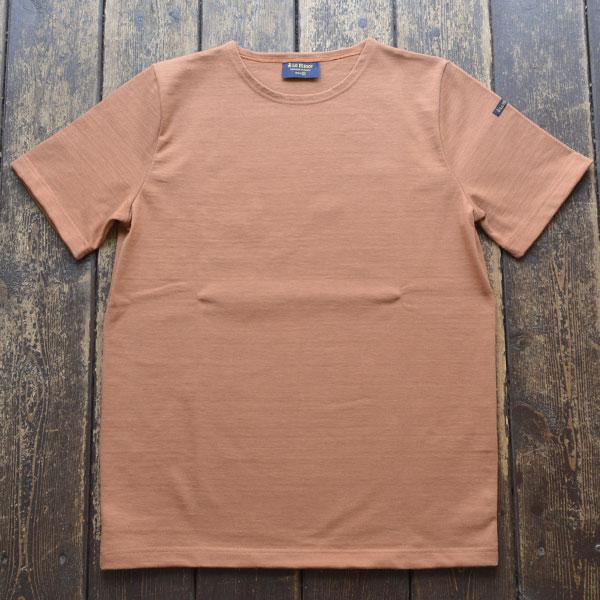 ルミノア Le minor 無地 半袖 バスクシャツ 61895 SOLID MARRON CLAIR