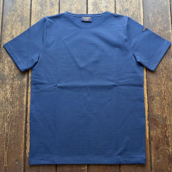 ルミノア Le minor 無地 半袖 バスクシャツ 61895 SOLID MARINE