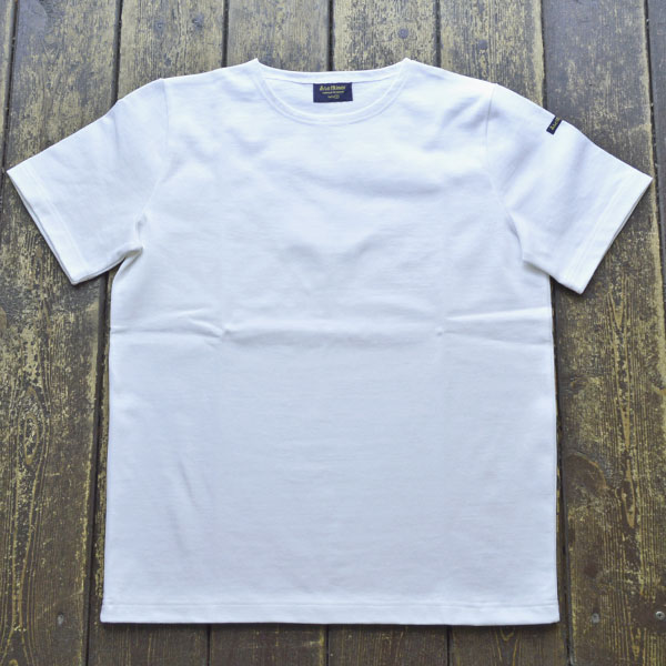 ルミノア Le minor 無地 半袖 バスクシャツ 61895 SOLID BLANC