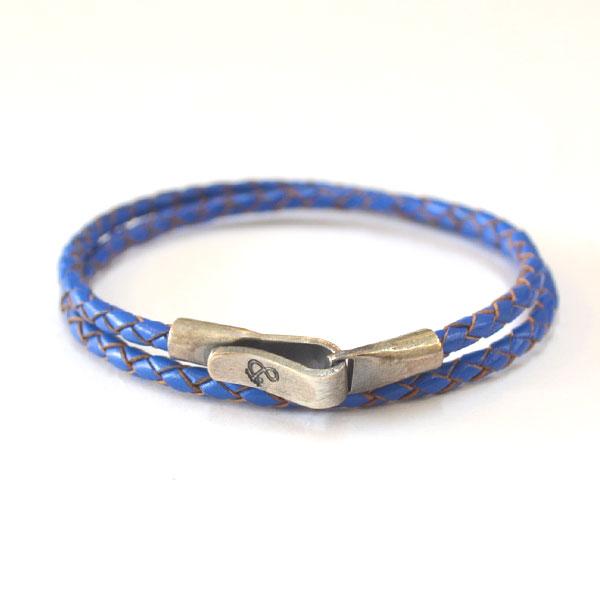 アンカーアンドクルー ANCHOR&CREW レザーブレスレット スターリングシルバー 925 BRACELET STERLING SILVER LIVERPOOL LEATHER ROYAL BLUE