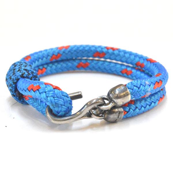 アンカーアンドクルー ANCHOR&CREW ロープブレスレット スターリングシルバー925 ROPE BRACELET STERLING SILVER GREAT YARMOUTH BLUE