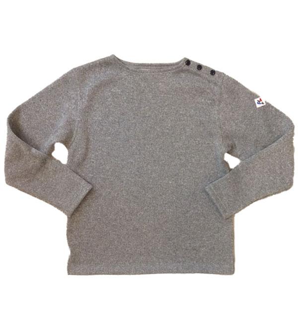 アルボーマレー 【Arvor Maree】 Shoulder Button Knit/Fleece ショルダーボタンニットフリース GRAY