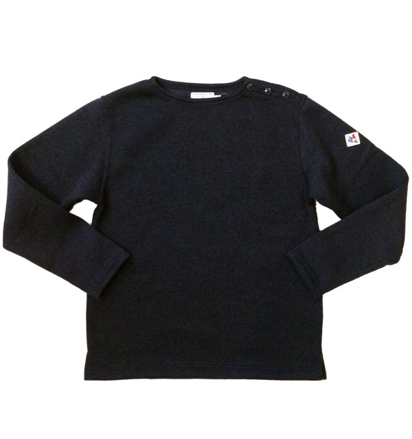 アルボーマレー 【Arvor Maree】 Shoulder Button Knit/Fleece ショルダーボタンニットフリース NAVY