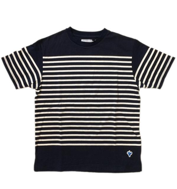 アルボーマレー 【Arvor Maree】 ナバルボーダーTシャツ NAVAL BORDER TEE NAVY/WHITE