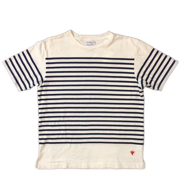 アルボーマレー 【Arvor Maree】 ナバルボーダーTシャツ NAVAL BORDER TEE WHITE/BLUE