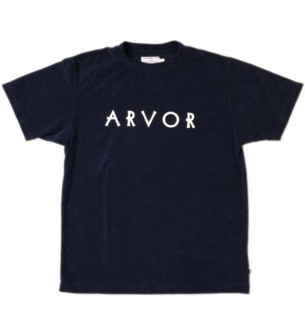 アルボマレー 【Arvor Maree】 パイルプリントTシャツ PILE PRINT TEE NAVY