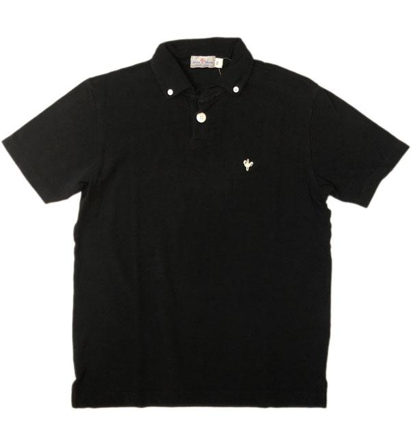 アルボーマレー 【Arvor Maree】 ボタンダウン鹿の子ポロシャツ  PETITE BD PIQUE POLO BLACK