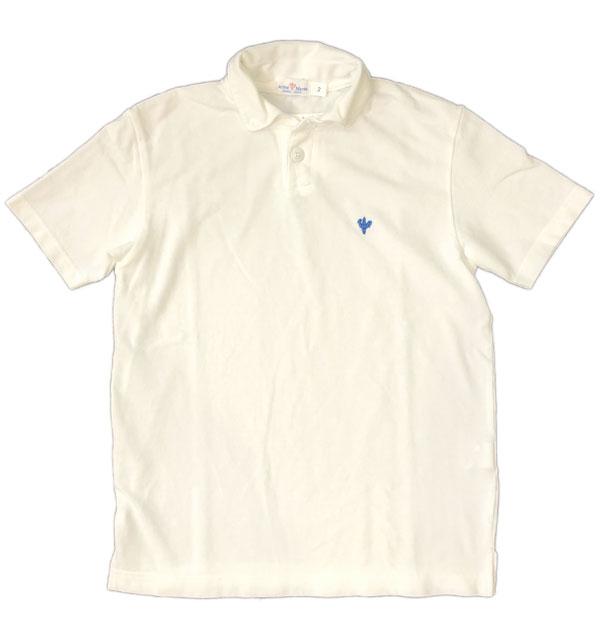 アルボーマレー 【Arvor Maree】 ボタンダウン鹿の子ポロシャツ  PETITE BD PIQUE POLO WHITE