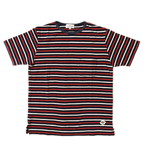 アルボーマレー Arvor Maree デザートボーダー ポケットTシャツ DESERT BORDER POCKET TEE NAVY TRICO
