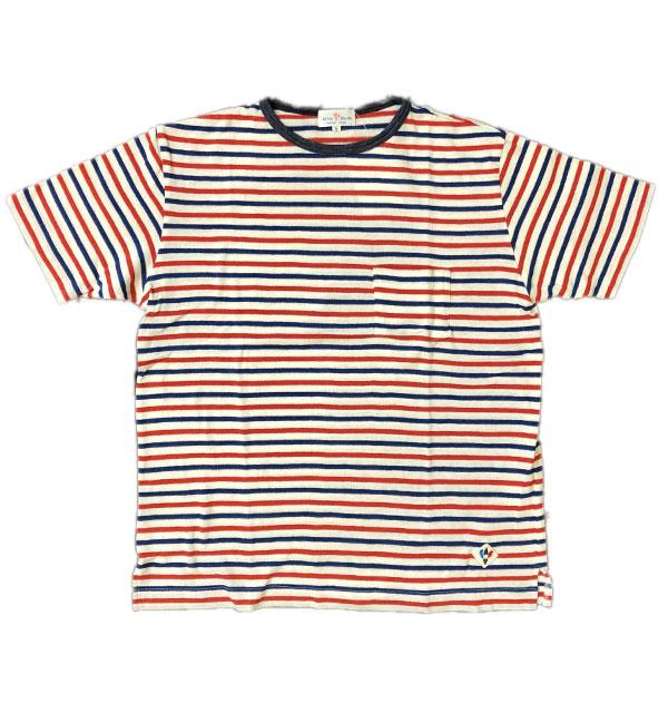 アルボーマレー Arvor Maree デザートボーダー ポケットTシャツ DESERT BORDER POCKET TEE WHT TRICO