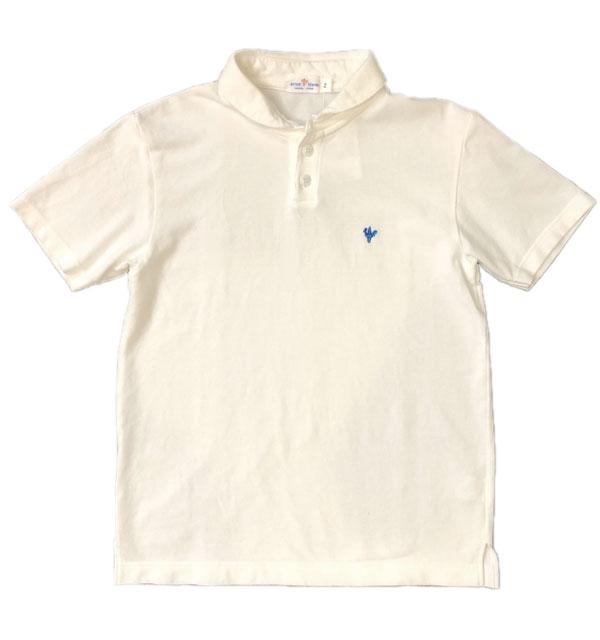 アルボーマレー Arvor Maree ショールカラー 鹿の子ポロシャツ SAILOR PIQUE POLO WHITE