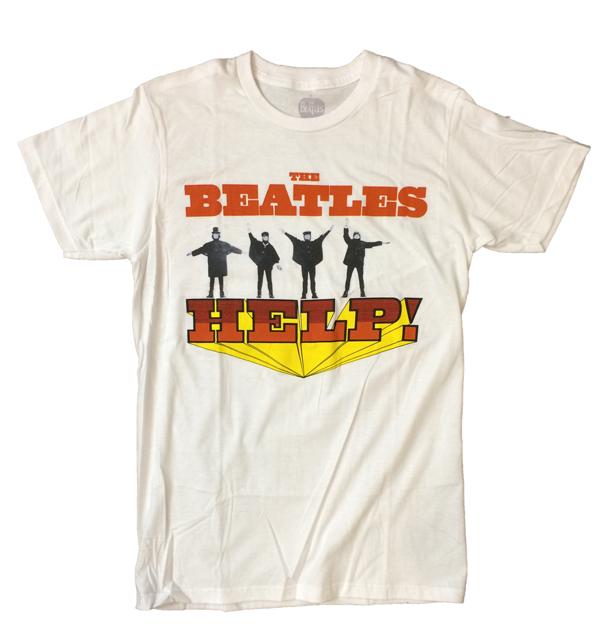 ザ・ビートルズ 【THE BEATLES】 バンドTEE HELP WHITE