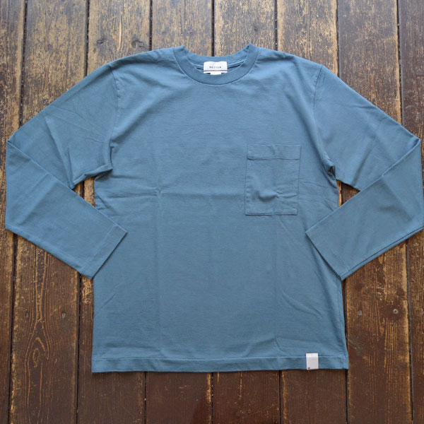 ベター BETTER アメリカンコットン  クルーネックロンTEE AMERICAN COTTON L/S SLEEVE CREW NECK T-SHIRT BTR1901 BLUE