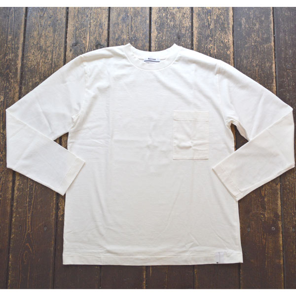 ベター BETTER アメリカンコットン  クルーネックロンTEE AMERICAN COTTON L/S SLEEVE CREW NECK T-SHIRT BTR1901 WHITE