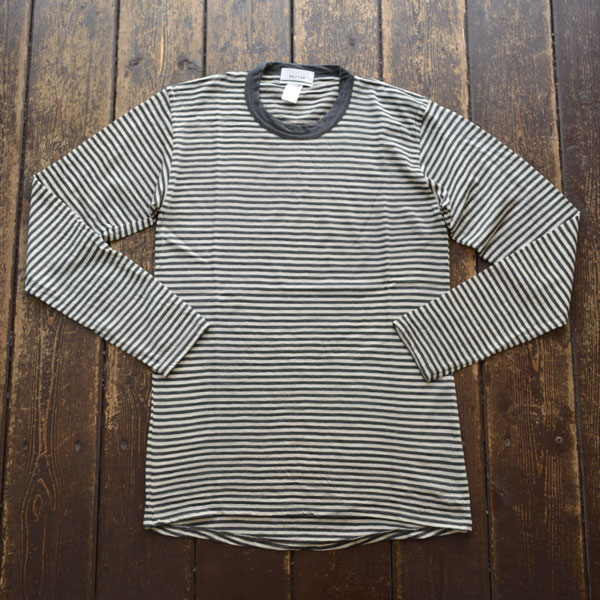 ベター BETTER メリノウールカットソー NZ MERINO WOOL T-SHIRT BTR2028 GRAY BORDER