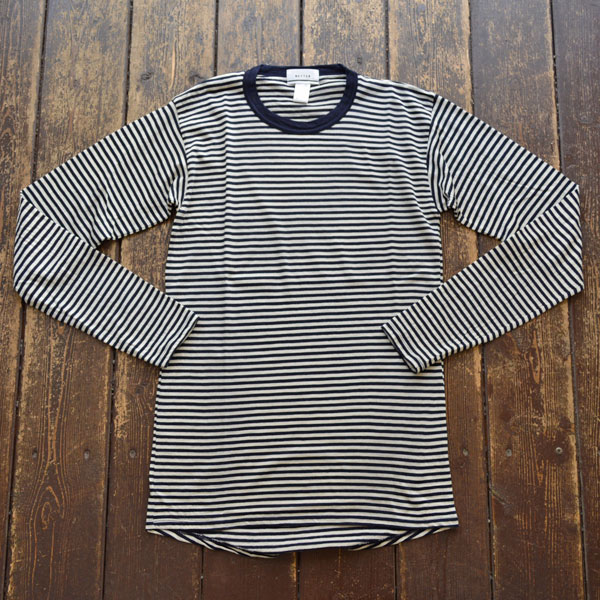 ベター BETTER メリノウールカットソー NZ MERINO WOOL T-SHIRT BTR2028 NAVY BORDER