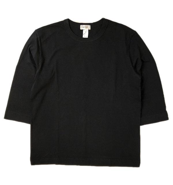 ベター BETTER ミディアムウェイト ラフィ天竺 7分袖 Tシャツ MEDIUM WEIGHT CREW NECK 3/4 SLEEVE T-SHIRT BLACK