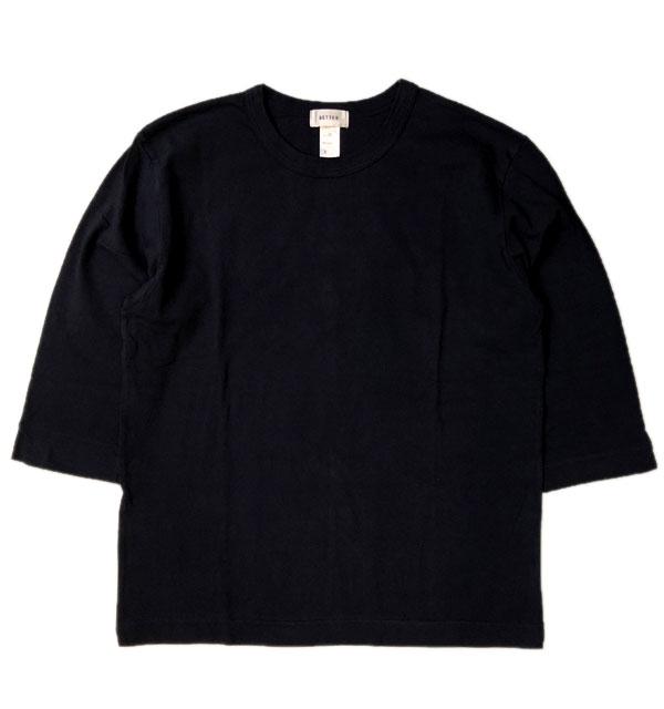 ベター BETTER ミディアムウェイト ラフィ天竺 7分袖 Tシャツ MEDIUM WEIGHT CREW NECK 3/4 SLEEVE T-SHIRT NAVY