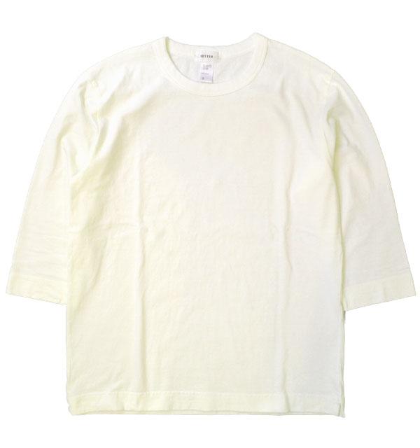 ベター BETTER ミディアムウェイト ラフィ天竺 7分袖 Tシャツ MEDIUM WEIGHT CREW NECK 3/4 SLEEVE T-SHIRT WHITE