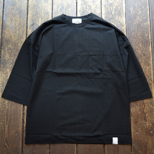 ベター BETTER アメリカンコットン ドロップショルダーTEE AMERICAN COTTON 3/4 SLEEVE CREW NECK T-SHIRT BTR1902 BLACK