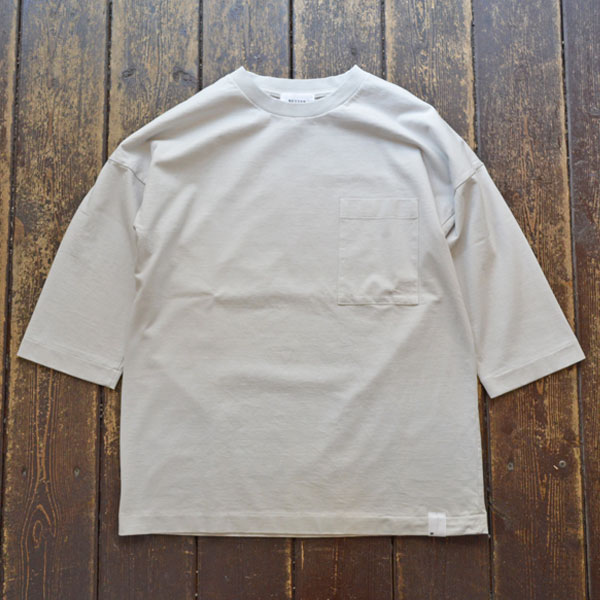 ベター BETTER アメリカンコットン ドロップショルダーTEE AMERICAN COTTON 3/4 SLEEVE CREW NECK T-SHIRT BTR1902 LT.GRAY