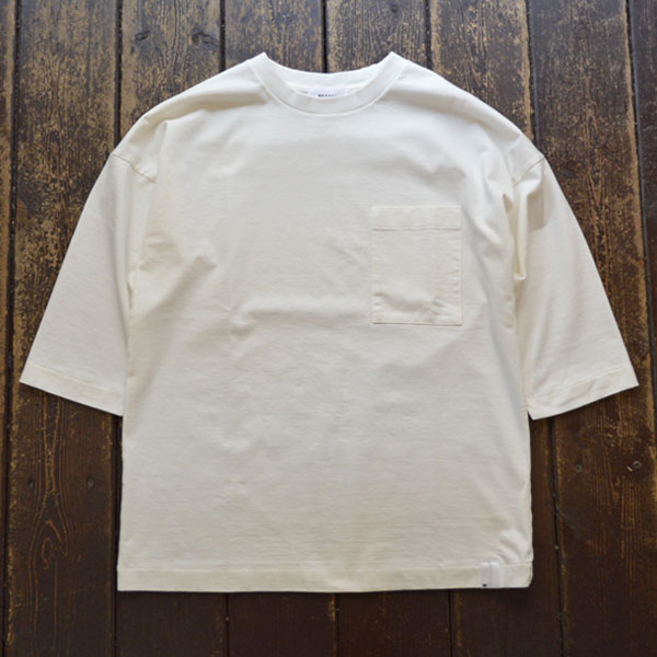 ベター BETTER アメリカンコットン ドロップショルダーTEE AMERICAN COTTON 3/4 SLEEVE CREW NECK T-SHIRT BTR1902 WHITE