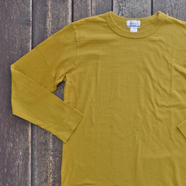 ベター BETTER ミディアムウェイト ラフィ天竺 長袖 Tシャツ MEDIUM WEIGHT CREW NECK L/S SLEEVE T-SHIRT MUSTARD