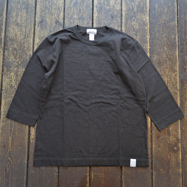 ベター BETTER ミディアムウェイト ラフィ天竺 7分袖 Tシャツ MEDIUM WEIGHT CREW NECK 3/4 SLEEVE T-SHIRT BTR1603T CHARCOAL BROWN