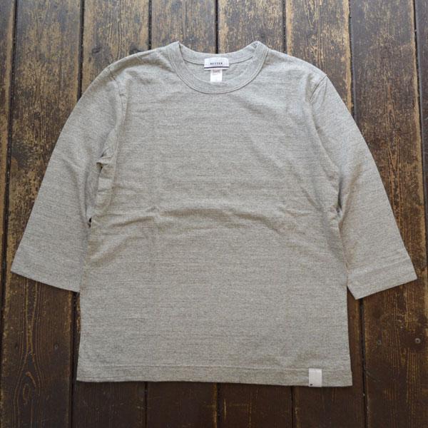 ベター BETTER ミディアムウェイト ラフィ天竺 7分袖 Tシャツ MEDIUM WEIGHT CREW NECK 3/4 SLEEVE T-SHIRT BTR1603T GRAY