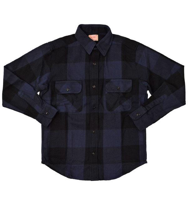 ビッグマイク BIG MIKE ヘビーフランネルシャツ HEAVY FLANNEL SHIRT ブロックチェック NAVY/BLACK